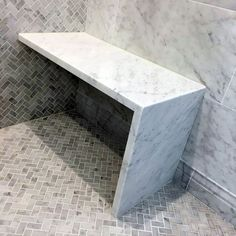 Top 50 Best Shower Bench Ideas – Relaxing Bathroom Seat Designs Marble Shower Bench Seat Ideas With Herringbone Tile Flooring - Marble Bathroom Dreams Bathroom Bench, Relaxing Bathroom, Bathroom Interior, Bathroom Hacks, Bathroom Storage, Condo Bathroom, Bathroom Plumbing, Shower Bench Built In, Shower Benches