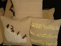 Drop Cloth Fall Pillow Covers
