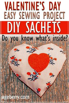 Learn how to make scented lavender sachets for closets and drawers. It's an easy Valentine day crafts to make DIY ideas. Beginner sewing projects. Scented DIY sachets are great to use in linen drawers, closets and cupboards, and even in cars. And if you make sachets yourself it's an awesome way to use all those pretty fabric scraps. Sewing For Beginners Diy, Sewing For Dummies, Sewing Basics, Easy Sewing Patterns, Easy Sewing Projects, Sewing Tutorials, Scented Sachets, Lavender Sachets, Luxury Soap