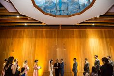 Melissa and Dorian had their ceremony on the top level of our Redwood Hall.