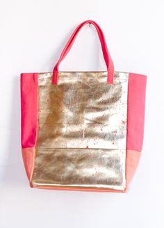Christophe Sauvat Metallic Shopper Gold