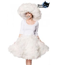 Cloud Girl weiß - AT80162 - FashionMoon Steampunk Mode, Pin Up Mode, Rockabilly Mode, Gothic Mode, Party Mode, Burlesque, Ballet Skirt, Clouds, Skirts