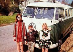 Microbus and kids: a scene from the 60's | von Howard33 | Flickr