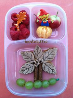 Leafy tree & scarecrow bento by bentoriffic