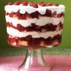 Grand Raspberry Trifle #recipe #dessert