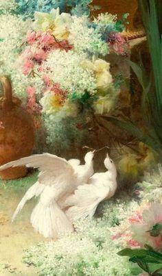 "malinconie: ""Details of birds in art "" Classic Paintings, Old Paintings, Beautiful Paintings, Renaissance Paintings, Renaissance Art, Victorian Art, Classical Art, Old Art, Aesthetic Art"