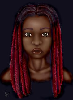 It's art. It's locs #naturalhairlove #kinkyhair my locs are growing ouf from red kinda like this