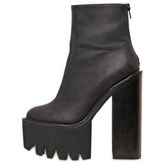 JEFFREY CAMPBELL 155mm Mulder Leather Ankle Boots - WOW. awesome.
