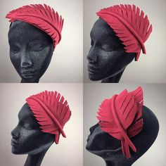 "46 Likes, 4 Comments - Marie Galvin Fine Millinery (@mariegalvinmillinery) on Instagram: ""GH cranberry feather crown is perfect for Autumn 2015.…"""