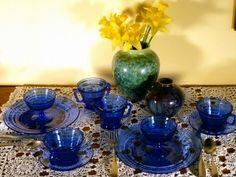 Moderntone Cobalt Blue Depression Glass