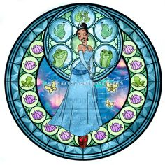 Princess Tiana - Kingdom Hearts Stain Glass oh my word!! Princess and the frog on Kingdom Hearts?! My life is complete.