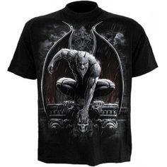 Spiral Stone Guardian Men's Longsleeve T-Shirt, Motorcycle Jacket, T Shirt, Long Sleeve, Spiral, Mens Tops, Jackets, Stone, Fashion, Goth Men