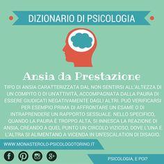 Dizionario di #Psicologia: Ansia da Prestazione.