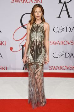 Michelle Monaghan in Monique Lhuillier at the 2015 CFDA Fashion Awards. See all the looks from the night.