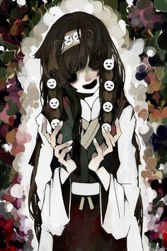 Tags: Anime, Hunter x Hunter, Straight Bangs, Empty Eyes, Alluka Zoldyck, Nanika, Tokai Kuma