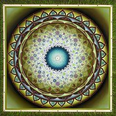 Om Mandala Green