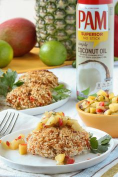Recipe: Crab Cakes with Pineapple-Mango Salsa — Recipes from The Kitchn Sponsored by @PAMCookingSpray