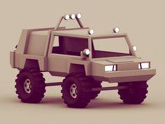 Dribbble - Battle SUV by Timothy J. Reynolds