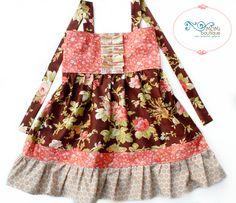 Fall Floral Josie dress by Pink MOMI boutique portrait Thanksgiving dress