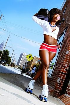 Whenever it relates to very simple fitness workouts, you don't always have to venture to a fitne Roller Disco, Skate Girl, Pose Reference Photo, Black Girl Aesthetic, Roller Skating, Roller Rink, Fitness Workouts, Fitness Websites, Fast Workouts