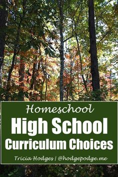 High School Curriculum Choices at Hodgepodge - our favorite resources for homeschooling high school.
