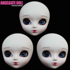 Angelgate OOAK Doll Head with Makeup Cinderella Fit for Obitsu Pullip Body | eBay