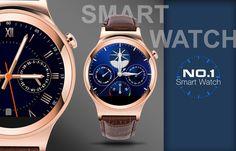NO.1 S3 dial redondo SmartWatch teléfono MTK2502 monitor del ritmo cardíaco del sueño monitor Termómetro Sumergible a Bluetooth 4.0