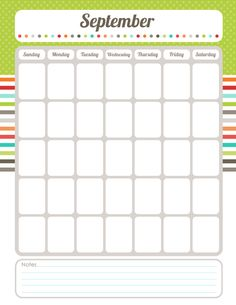 FREE printable calendar planner! {WHOLE set of free printables! So awesome!}