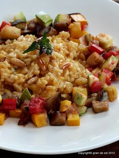 grain de sel - salzkorn: Vorschriftsmäßig: Gewürzrisotto mit Aubergine und Zucchini