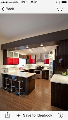 Staggering Cool Ideas: U Shaped Kitchen Remodel Home u shaped kitchen remodel home.U Shaped Kitchen Remodel Subway Tiles. Kitchen Room Design, Modern Kitchen Design, Home Decor Kitchen, Rustic Kitchen, Interior Design Kitchen, Kitchen Furniture, Home Kitchens, Kitchen Small, Small Kitchens