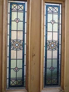 ORIGINAL VICTORIAN EDWARDIAN STAINED GLASS EXTERIOR FRONT DOOR THE STAR