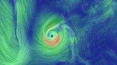 Storm Ophelia - situatie van 13.30 uur Nederlandse tijd.