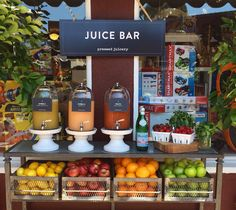 A juice bar is a great addition to a summer party