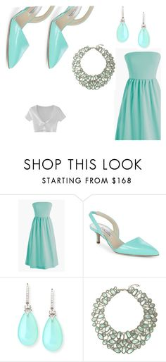 """Aqua"" by veronicakaira on Polyvore featuring J.Crew, Oscar de la Renta, Rina Limor, Jenny Packham and WithChic"