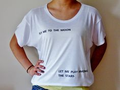 Fly Me To The Moon Crop Top. Fly Me To The by GoodWitchBoutique