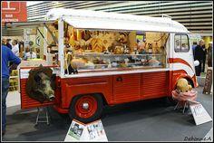 Citroen Type H as a butchers food truck