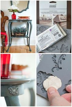DIY Furniture Appliques 2019 DIY Paper Clay Furniture Molds Salvaged Inspirations The post DIY Furniture Appliques 2019 appeared first on Clay ideas. Refurbished Furniture, Paint Furniture, Repurposed Furniture, Shabby Chic Furniture, Furniture Projects, Furniture Makeover, Furniture Decor, Barbie Furniture, Furniture Design