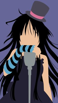 Mio Minimalistic Phone Wallpaper - K-on! by Co1onel on DeviantArt