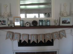 Easter Mantle - Love the Sign! :)