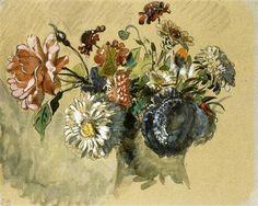 Bouquet of Flowers - Eugene Delacroix