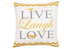 """Live, Love, Laugh"" 20x20 Pillow, Multi on OneKingsLane.com"