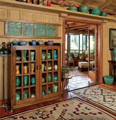 Time pottery collection (this is what my place looks like, except it's antique electric fans instead of vases).pottery collection (this is what my place looks like, except it's antique electric fans instead of vases). Arts And Crafts For Teens, Art And Craft Videos, Arts And Crafts House, Arts And Crafts Projects, Home Crafts, Craft House, Art Crafts, Arts And Crafts Interiors, Arts And Crafts Furniture