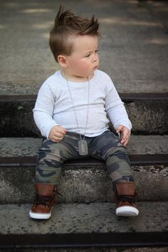Dark Camo Stretch French Terry Harem Pants - October 06 2019 at Baby Outfits, Toddler Boy Outfits, Toddler Boys, Kids Outfits, Little Boy Outfits, Toddler Boy Style, Baby Boy Wedding Outfit, Tomboy Outfits, Boys Harem Pants