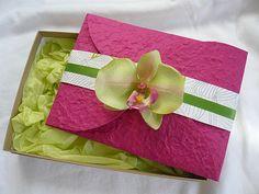 Green Orchid Wedding Invitations