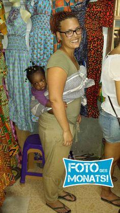 Foto des Monats November! Lena in #Ghana im #Freiwilligenprojekt Sozialarbeit mit Kindern