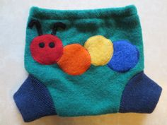 Recycled Wool Sweater Shortie Soaker Cloth Diaper Cover by UTGU, $26.00