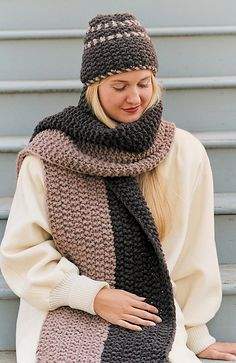 Ravelry: Canyon Divide Hat and Scarf pattern by Jean Lampe