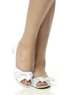 Satin Peep Toe Bridal Ballet Flats http://www.dessy.com/accessories/satin-peep-toe-bridal-ballet-flats/?color=arctic&colorid=593#.Utt9otOIbFo