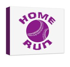 Home Run with Baseball Canvas and Print Wall Art