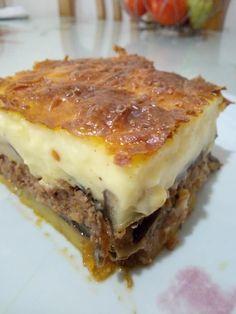Cookbook Recipes, Cooking Recipes, Greek Recipes, Eggplant, Lasagna, Sandwiches, Food And Drink, Beef, Ethnic Recipes
